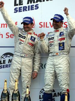 Podium: race winners Nicolas Minassian and Marc Gene