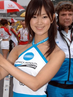 A lovely Konica Minolta grid girl