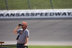 A race fan ready for the race