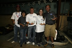 The second place team receives its award