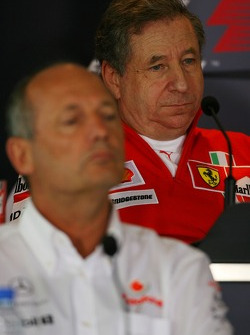 Jean Todt, Scuderia Ferrari, Ferrari CEO and Ron Dennis, McLaren, Team Principal, Chairman