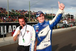 Mark Winterbottom thanking the fans for the support