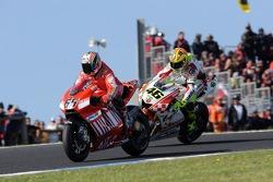 Loris Capirossi and Valentino Rossi