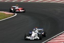 Nick Heidfeld, BMW Sauber F1 Team, Jarno Trulli, Toyota Racing