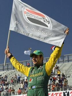 Pole winner Will Power celebrates