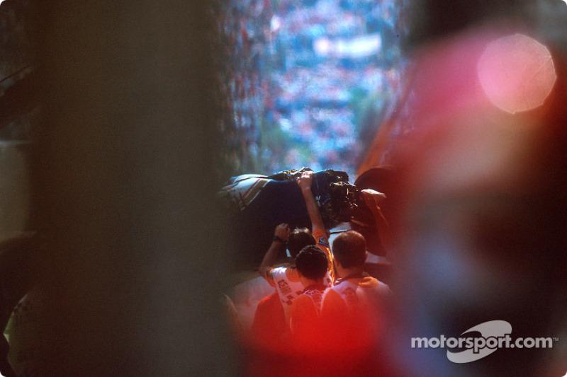 El choque fatal de Ayrton Senna en Tamburello: el auto chocado de Ayrton Senna