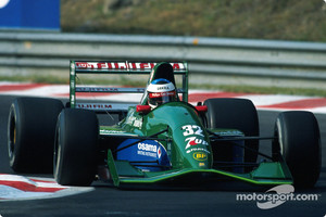 Michael Schumacher in the 1991 Jordan at Spa-Francochamps