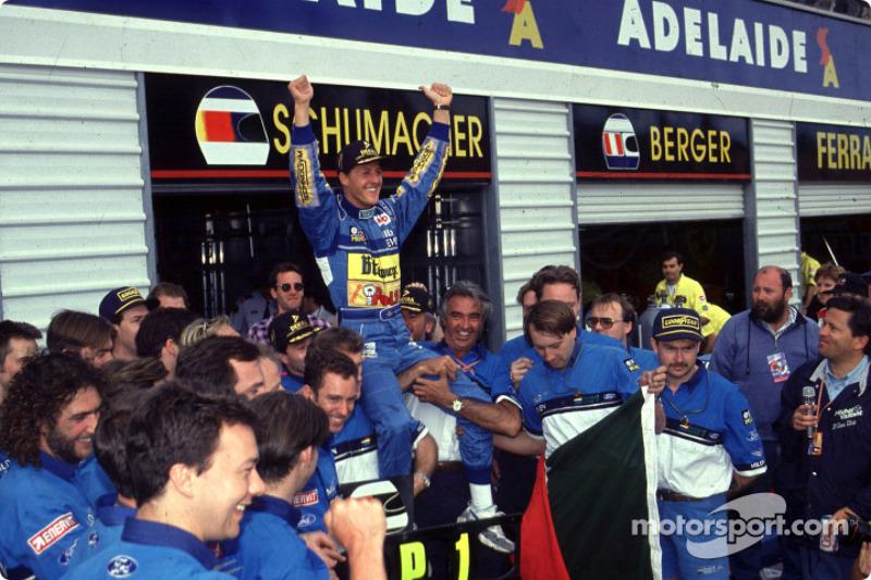 Michael Schumacher, Benetton Renault, campeón del mundo de F1 1994