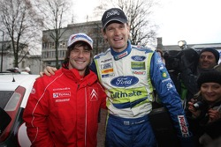 2007 World Rally Champion Sébastien Loeb with Marcus Gronholm