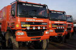Team de Rooy pre-prologue in Valkenswaard: the GINAF X2223 rally trucks