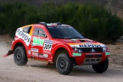 Repsol Mitsubishi Ralliart Team shakedown test: Hiroshi Masuoka and Pascal Maimon