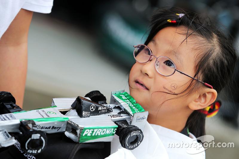A Mercedes AMG F1 fan