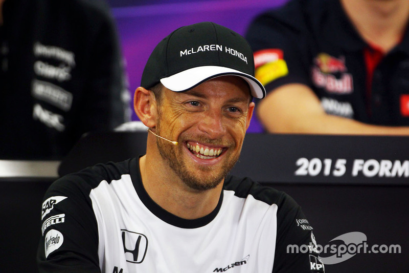 Jenson Button, McLaren, in der FIA-PK