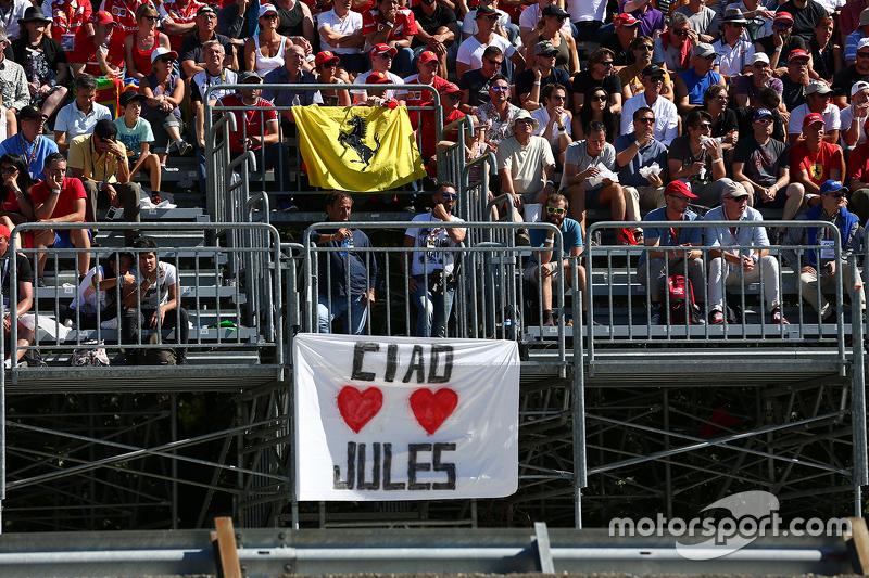 Eine Nachricht für Jules Bianchi
