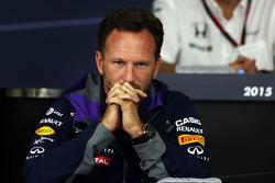 Christian Horner, de Red Bull Racing, director del equipo en la conferencia de prensa de la FIA