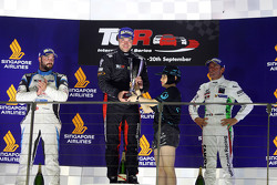 Race 1 Podium: 1st position Kevin Gleason, Honda Civic TCR, West Coast Racing 2nd position Stefano Comini, SEAT Leon, Target Competition 3rd position Gianni Morbidelli, Honda Civic TCR, West Coast Racing