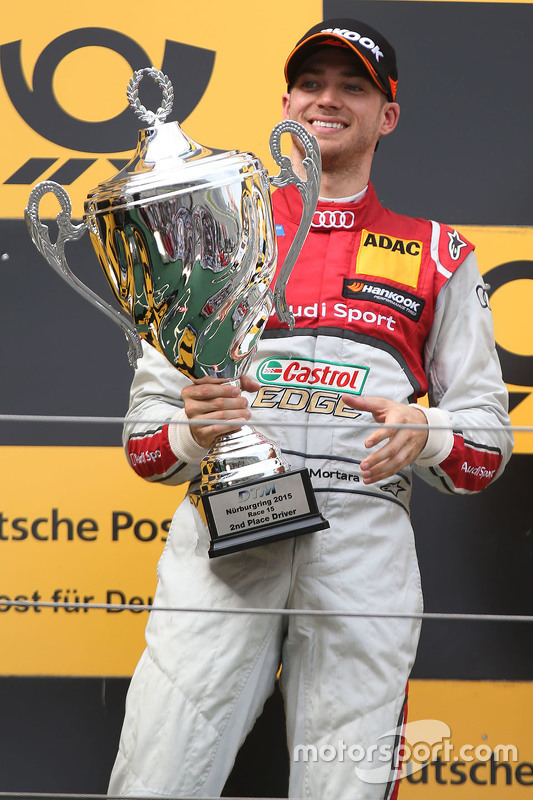 Podium: second place Edoardo Mortara, Audi Sport Team Abt