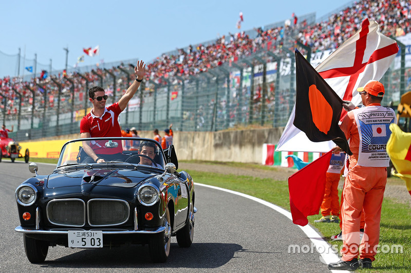 Alexander Rossi, Manor F1 Team on the drivers parade