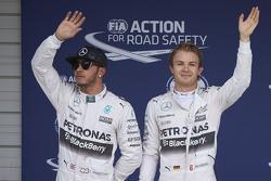 Ganador de la pole: Nico Rosberg, Mercedes AMG F1 Team, segudno lugar Lewis Hamilton, Mercedes AMG F1 Team