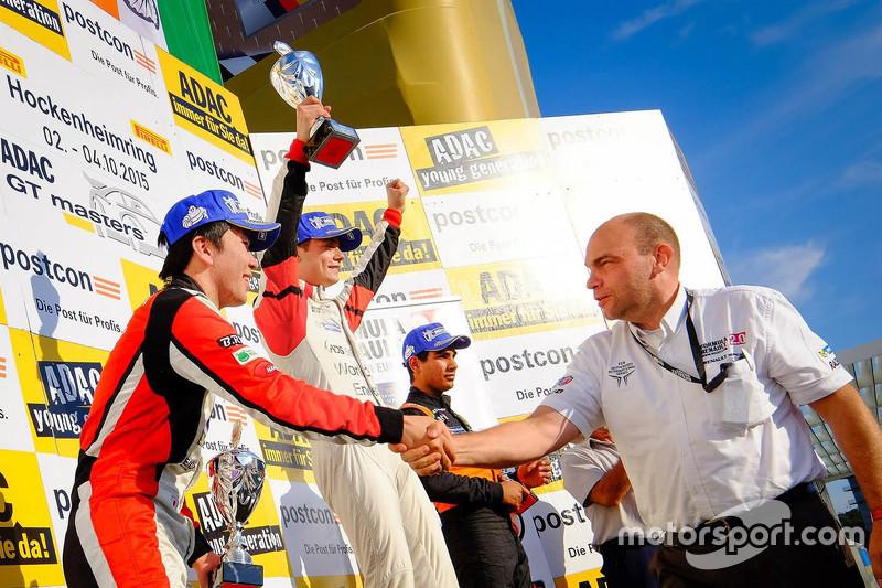 Podium: winner Louis Deletraz, Josef Kaufmann Racing, second place Ukyo Sasahara, ART Junior Team, t