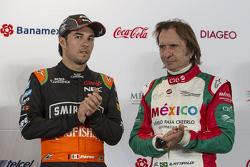 Sergio Pérez Sahara Force India e Emerson Fittipaldi
