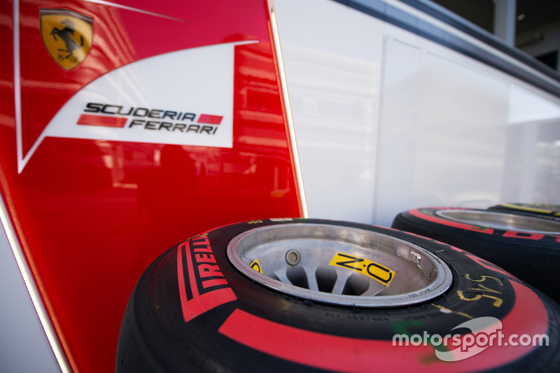 Pirelli tyres for the Ferrari team