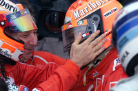 Race winner and 2000 World Champion Michael Schumacher, Ferrari with Rubens Barrichello