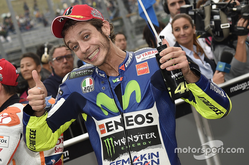 Qualifying: second place Valentino Rossi, Yamaha Factory Racing