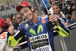 Calificación: segundo puesto Valentino Rossi, Yamaha Factory Racing