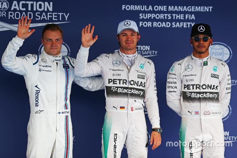 Для Росберга эта поул-позиция стала второй подряд, третьей в сезоне и 18-й в Ф1. Третье место досталось Боттасу, следом расположились две Ferrari и две Force India. Врачи разрешили Сайнсу выступать в гонке, а судьи допустили испанца до старта, несмотря на пропуск квалификации