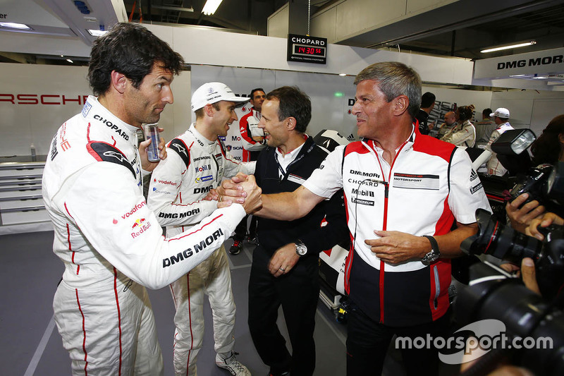 Polesitter: Timo Bernhard, Mark Webber, Brendon Hartley, Porsche Team