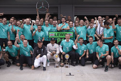 Winner Lewis Hamilton y Nico Rosberg, Mercedes