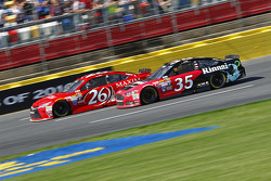 Josh Wise, BK Racing Toyota and Cole Whitt, Front Row Motorsports Ford