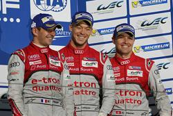 Podium: third place Benoît Tréluyer, André Lotterer, Marcel Fässler, Audi Sport Team Joest