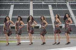Gridgirls für den GP von Mexiko