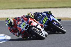 Andrea Iannone, Ducati Team y Valentino Rossi, Yamaha Factory Racing