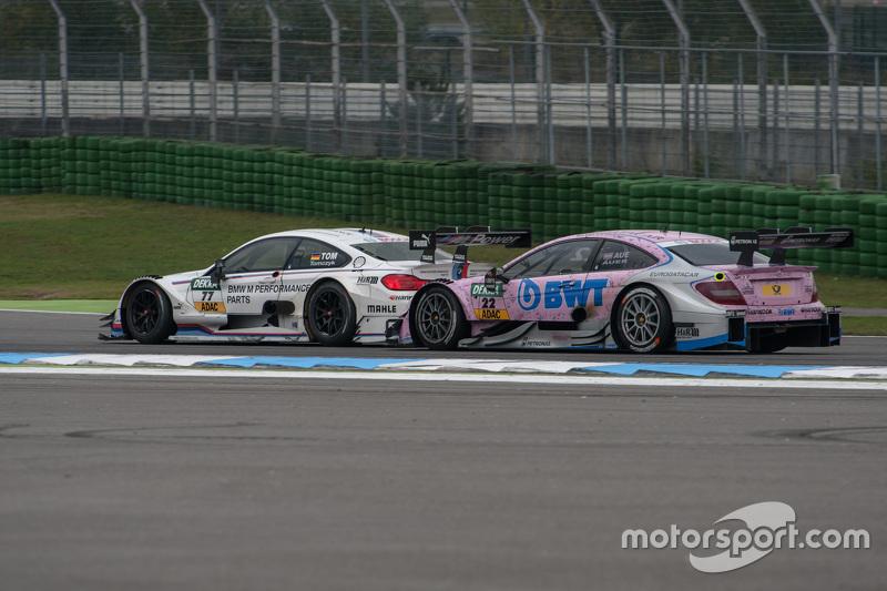 Martin Tomczyk, BMW Team Schnitzer BMW M4 DTM and Lucas Auer, ART Grand Prix Mercedes-AMG C63 DTM