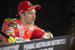 Andrea Dovizioso, Ducati Team, durante la conferenza stampa