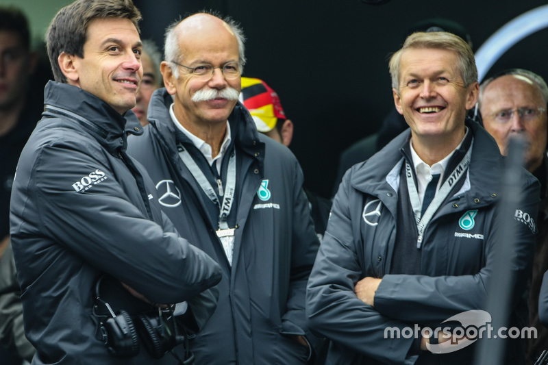 Toto Wolff, Mercedes AMG F1 Shareholder and Dieter Zetsche, Mercedes CEO