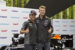 Sergio Pérez y Nico Hulkenberg, Sahara Force India en la Ciudad de México