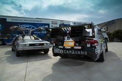 Back to the Future DeLorean con Prodrive Racing demostración