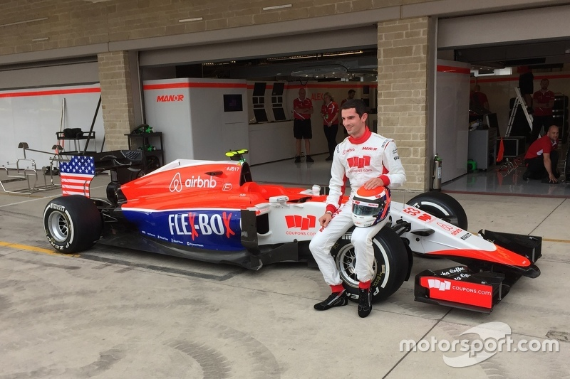 Alexander Rossi with Manor's new livery