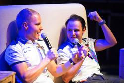 (L to R): Valtteri Bottas, Williams and team mate Felipe Massa, Williams at the Fans' Forum