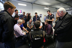 Jolyon Palmer, Lotus F1 Team Test and Reserve Driver with the media