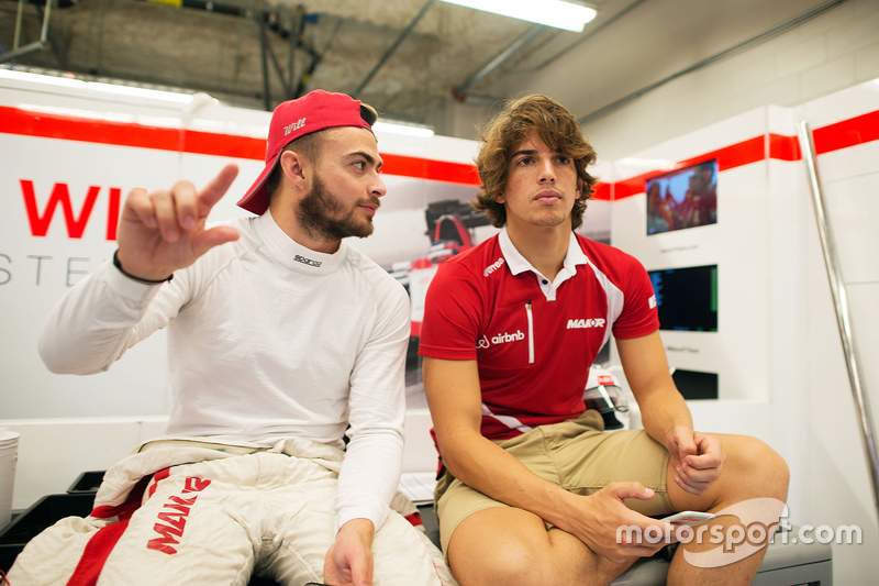 (L to R): Will Stevens, Manor Marussia F1 Team with Roberto Merhi, Manor Marussia F1 Team