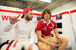 (L to R): Will Stevens, Manor Marussia F1 Team with Roberto Merhi, Manor Marussia F1 Team