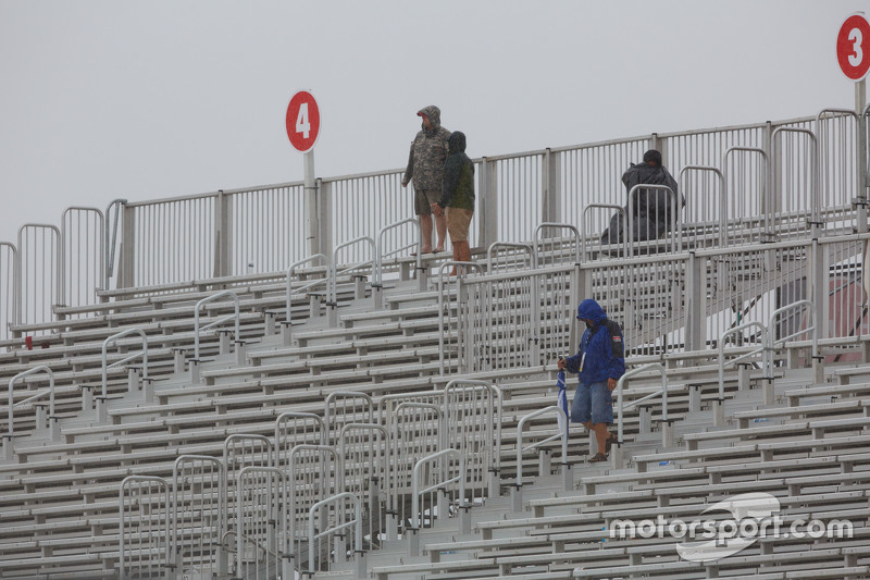 A few fans in the grandstand
