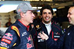 Carlos Sainz, met zoon Carlos Sainz Jr., Scuderia Toro Rosso