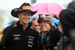 Nico Hulkenberg, Sahara Force India F1 with the fans