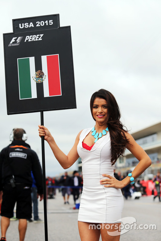 Grid girl voor Sergio Perez, Sahara Force India F1 VJM08